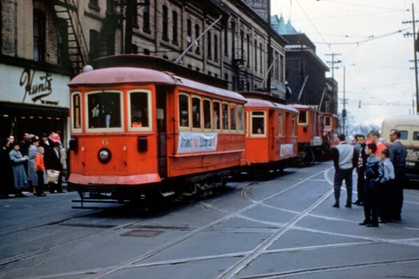 Last day of the streetcar, May 1, 1959. Photo: City of Ottawa Archives/RG045.